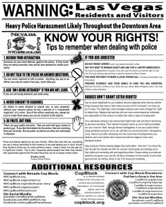 KnowYourRightsNVCopBlock 240x300 Monthly First Friday Outreach & Downtown CopWatch w/Nevada Cop Block